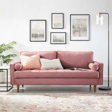 Valour Performance Velvet Sofa in Dusty Rose