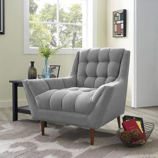 Response Upholstered Fabric Armchair in Expectation Gray