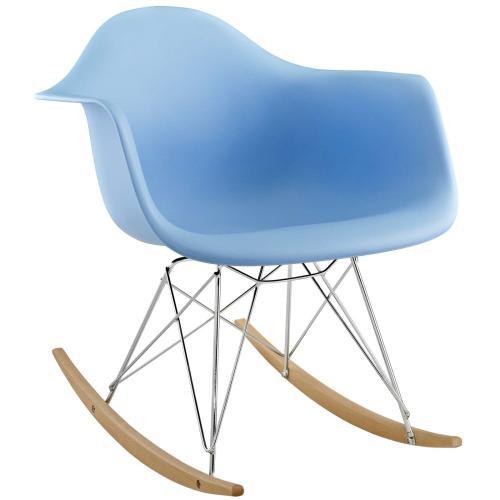 Modway - Rocker Plastic Lounge Chair in Blue
