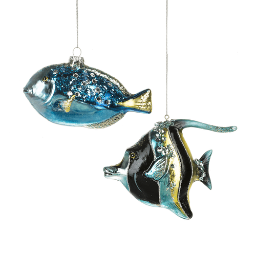 Blue Tropical Fish Ornaments (4 pc. ppk.)