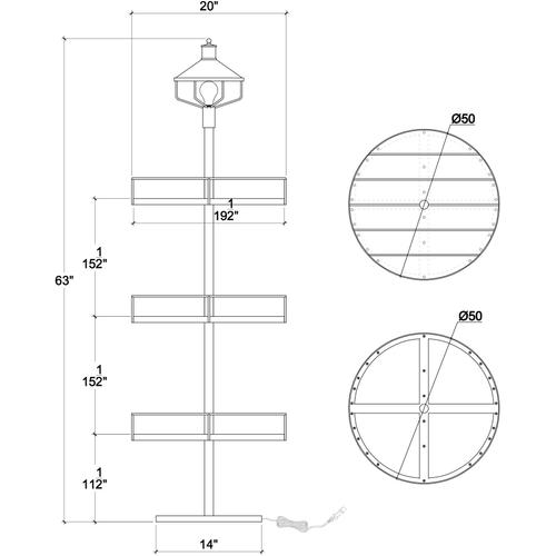 Gallery - Standing Lamp with Tray A
