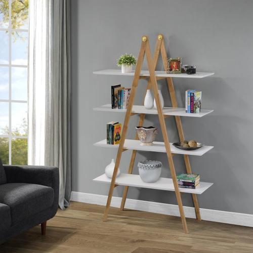 A-Frame Multi-toned Bookcase in White