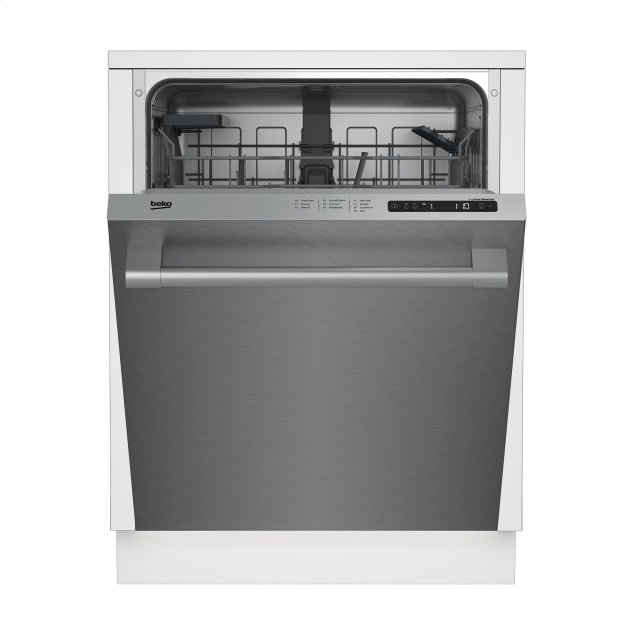 Beko Tall Tub Stainless Dishwasher, 14 place settings, 48 dBa, Top Control