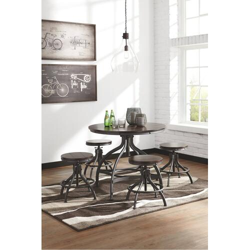 Odium Counter Height Dining Table and Bar Stools (set of 5)