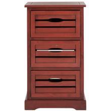 Samara 3 Drawer Cabinet - Red