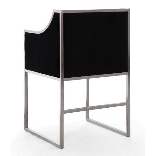 Atara Back Velvet Silver Chair