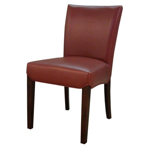 Beverly Hills Bonded Leather Dining Side Chair, Pomegranate