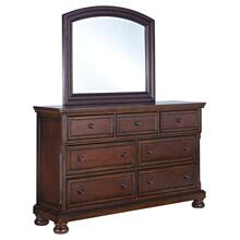 California King Panel Bed With Mirrored Dresser, Chest and 2 Nightstands