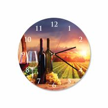 Vineyard Round Acrylic Wall Clock