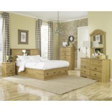 Bookcase Storage Bed - 2 Drawer - King