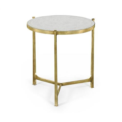 Large glomise & Gilded Iron Lamp Table