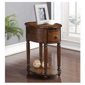 Oval Chairside Table W/power Outlet (rta)