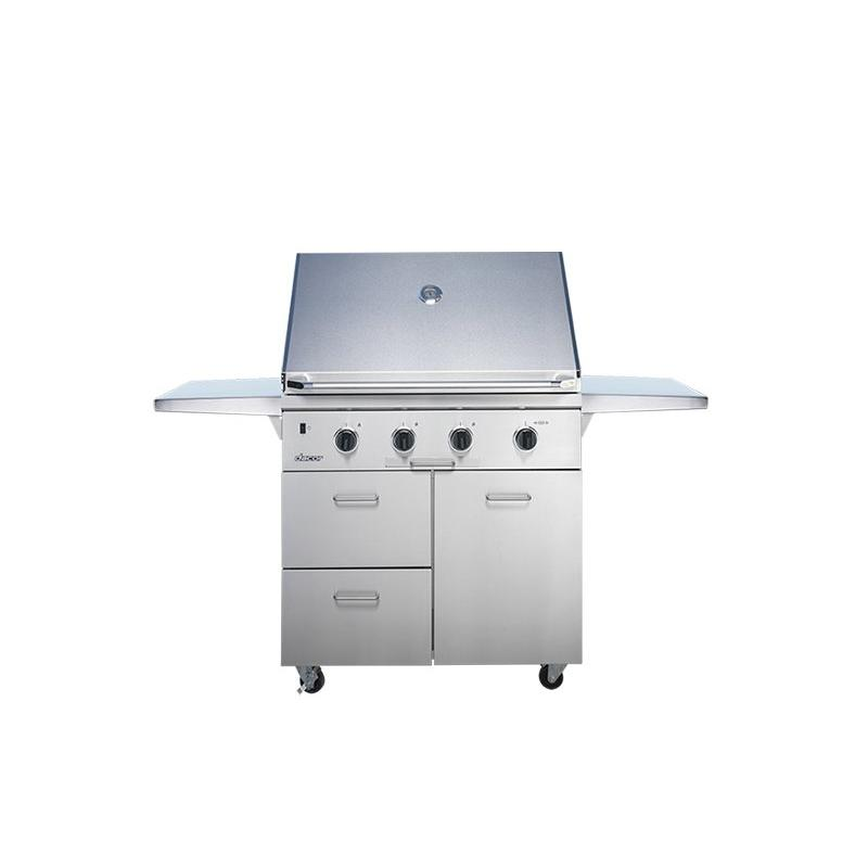 """36"""" Outdoor Grill with Infrared Sear Burner, Stainless Steel, Liquid Propane"""