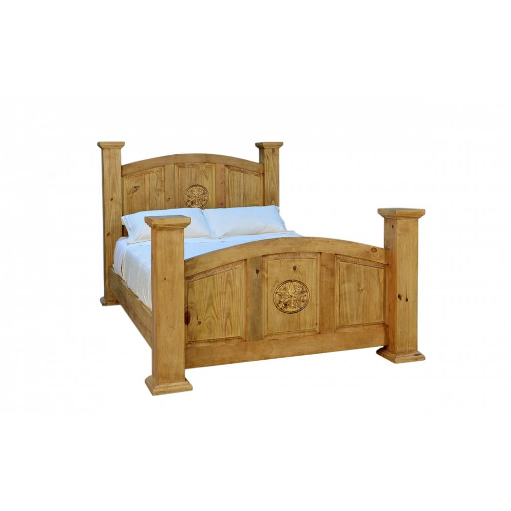 Rustic King Mansion Bed w/ Stars