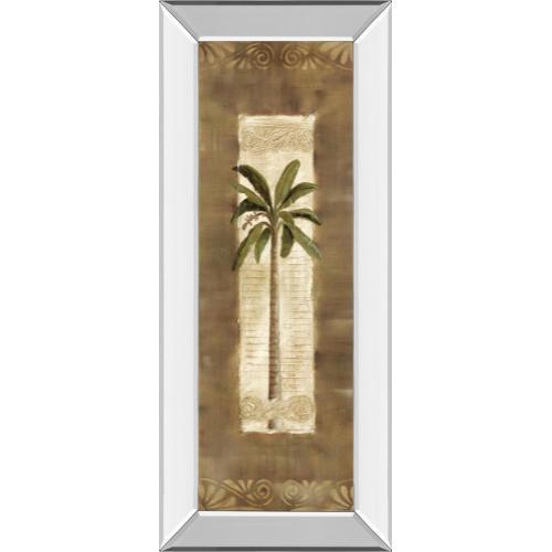 """""""Scroll Palm I"""" By Carol Robinson Mirror Framed Print Wall Art"""