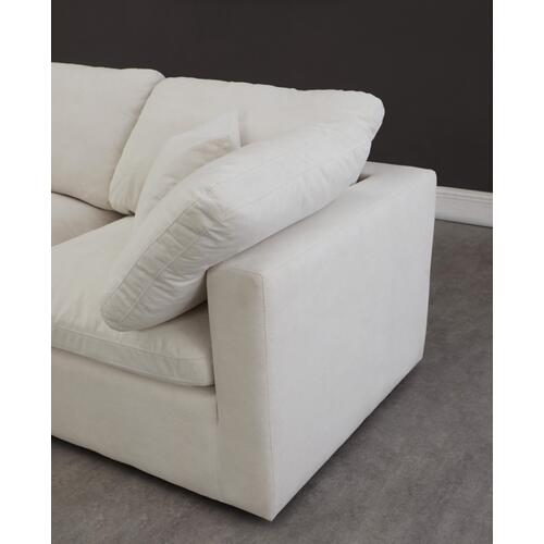 "Plush Velvet Standard Cloud Modular Down Filled Overstuffed 70"" Armless Sofa - 70"" W x 35"" D x 32"" H"