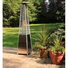 See Details - Hanover 7-Ft. 42,000 BTU Pyramid Propane Patio Heater in Stainless Steel with Weather-Protective Cover, HAN102SS-CV