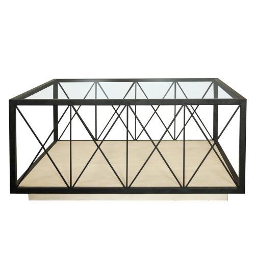Square Coffee Table - Farmhouse White Finish