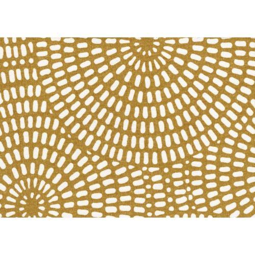 Storage Ottoman, Yellow Print