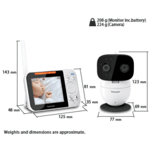 KX-HN3051 Video Baby Monitor