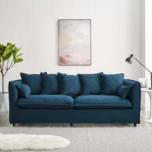 Avalon Slipcover Fabric Sofa in Azure