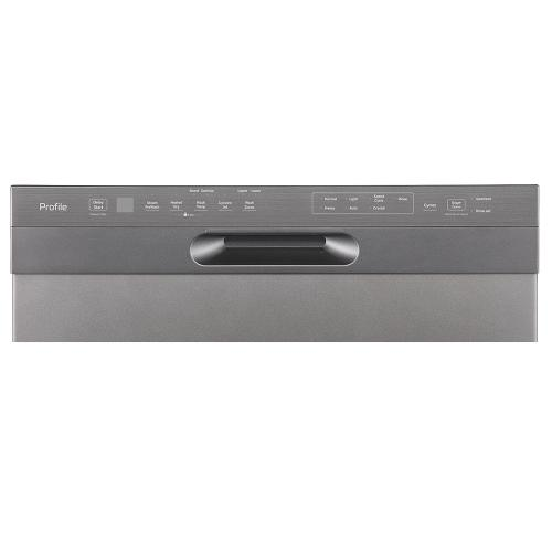 "GE Profile 24"" Built-In Front Control Dishwasher with Stainless Steel Tall Tub Slate - PBF665SMPES"