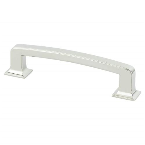 Designers Group Ten 128mm CC Polished Nickel Hearthstone Pull