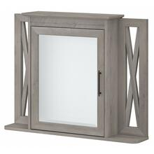 Key West Bathroom Bathroom Medicine Cabinet with Mirror - Driftwood Gray