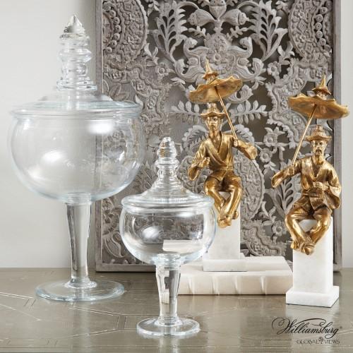 Glass Apothecary Jar-Sm