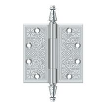 "4-1/2"" x 4-1/2"" Square Hinges - Polished Chrome"