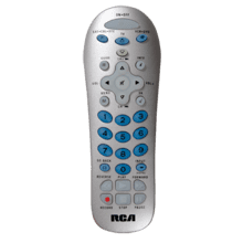 3 device silver universal remote and partially backlit