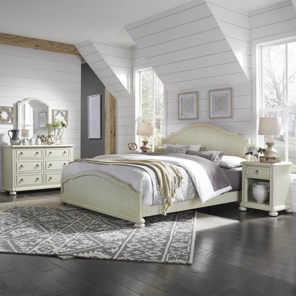 Chambre King Bed, Nightstand and Dresser With Mirror