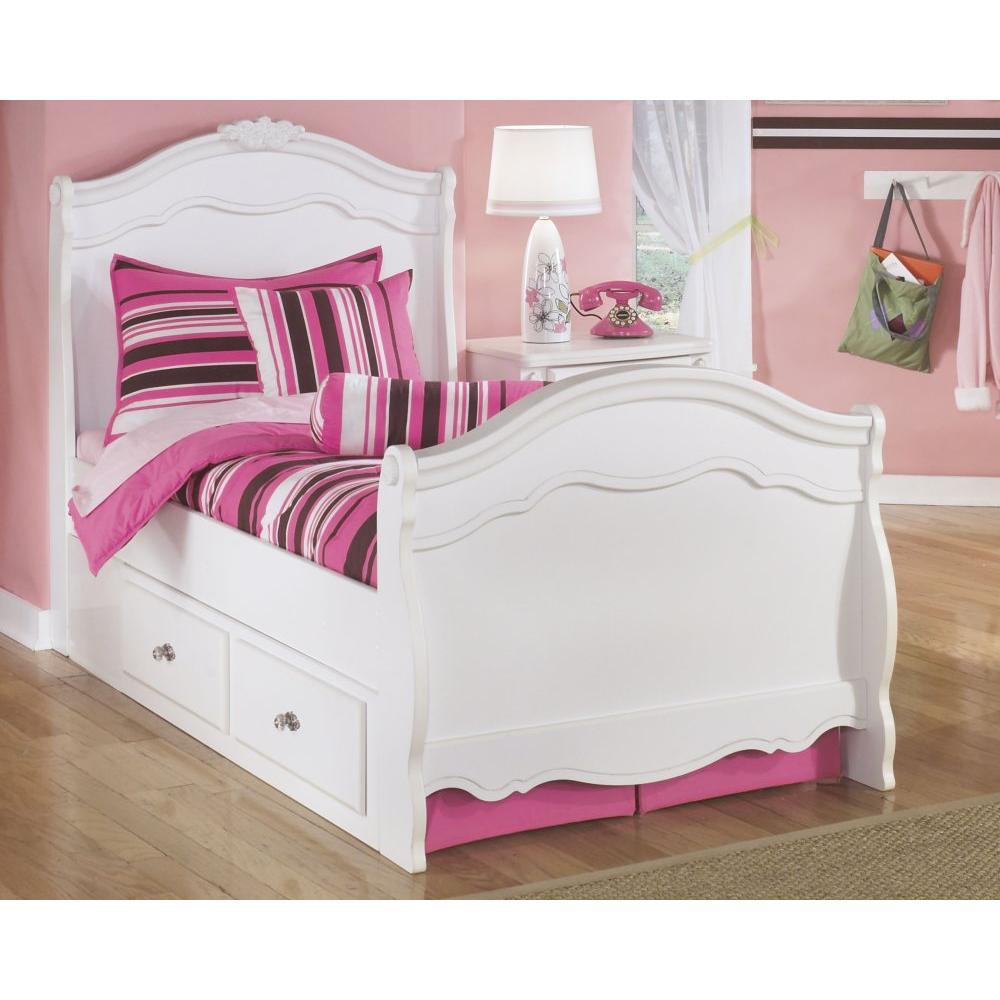 Exquisite Twin Sleigh Bed With 2 Storage Drawers