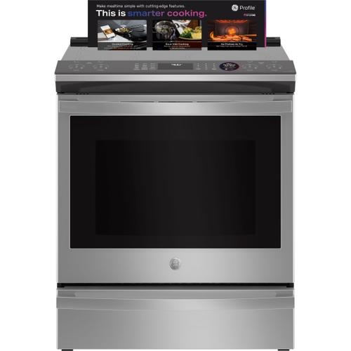 """GE Appliances - GE Profile™ 30"""" Smart Slide-In Fingerprint Resistant Front-Control Induction and Convection Range with No Preheat Air Fry"""