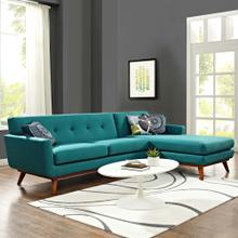 See Details - Engage Right-Facing Sectional Sofa in Teal