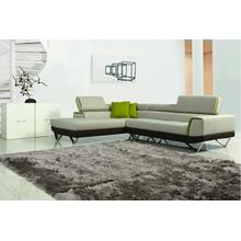 Divani Casa Amy - Modern Fabric Sectional Sofa with Retractable Headrests