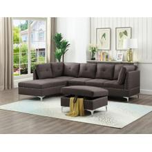 See Details - BROWN SECTIONAL CHAISE