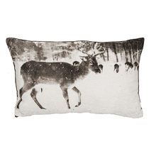 Velvet Stag Lumbar Pillow