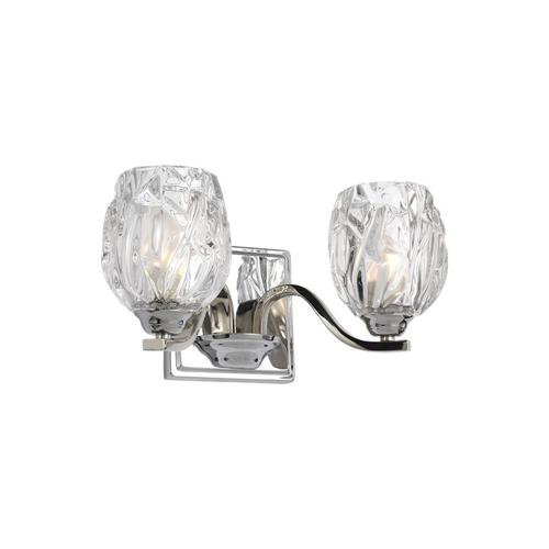 Feiss - Kalli 2 - Light Vanity Chrome Bulbs Inc