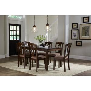 Standard Furniture - Grandville Dining Table with Six Chairs Set, Cherry Brown