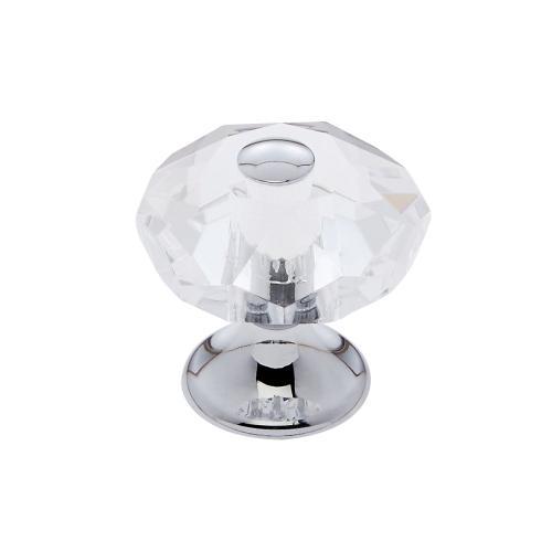 Polished Chrome 28 mm 8-Sided Crystal Knob
