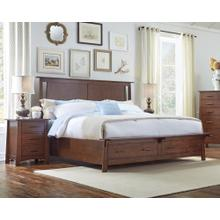 California King Bed Storage Bed