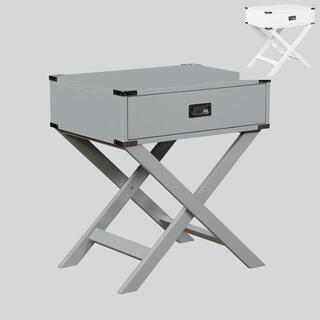See Details - Hudson End Table Grey