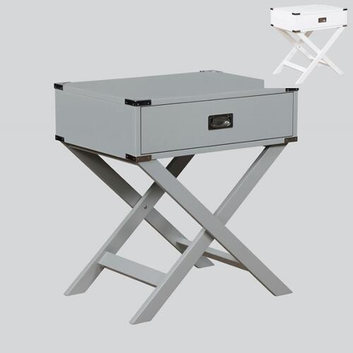 Hudson Chairside Table Grey