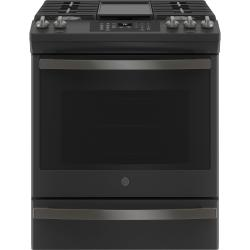 """GE® 30"""" Slide-In Front-Control Convection Gas Range with No Preheat Air Fry"""