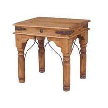 See Details - End Table W/conchos