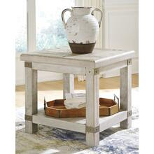 Carynhurst Rectangular End Table White Wash Gray