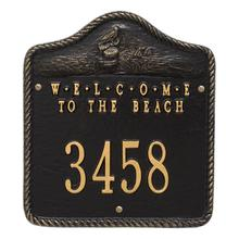 View Product - Personalized Welcome To The Beach Plaque - Black/Gold