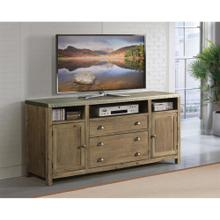 Liam - 64-inch TV Console - Gray Acacia/galvanized Metal Finish