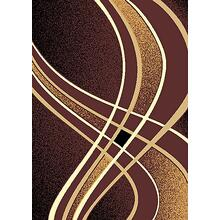 See Details - CONT-42 CHOCOLATE Contemporary Abstract Curvy Lines Rug